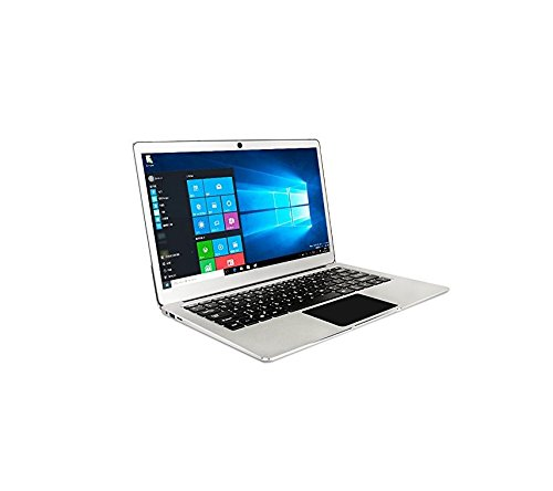 【pre-Installed Windows 10 Professional, Office 2010】 13.3 Inch 1.3kg Laptop 6G RAM 64GB SSD Metal Case N3450 Silent CPU Quad Core Dual Band AC Notebook (64G EMMC, Silver) -  Smart-US