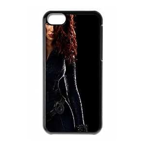 Black Widow Iron Man 2 Movie0 3 iPhone 5c Cell Phone Case Black yyfabb-163500