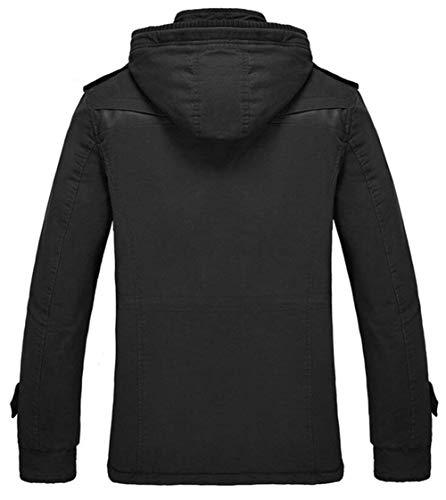 Winter Outerwear Winterparka Hooded Outerwear Jacket Men's Winter Apparel Outwear with Warm Quilted Jacket Schwarz Jacket Coat Coat Parka wqgSAUY