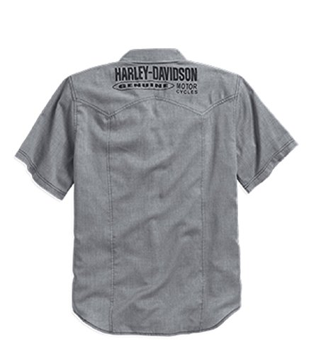 Harley-Davidson Wrinkle-Resistant Herringbone Shirt 96106-16VM Herren Shirt