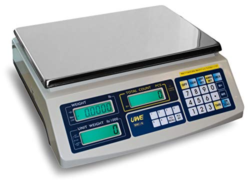 Intelligent Intell-Count SAC-150 Portable Counting Scale 30/75/150lb by 0.002/0.005/0.01 lb, Pan size 13.6