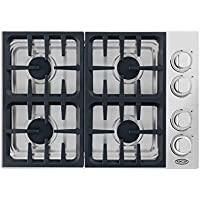 DCS CDV304N 30 Stainless Steel Gas Sealed Burner Cooktop - Downdraft