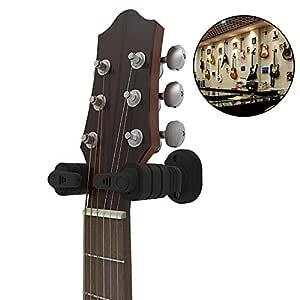 Guitar Hanger Hook, Guitar Wall Mount Holder Weight Sensing Lock, Guitar Display Holder Fits All Size Guitars, Bass, Mandolin, Banjo, Ukulele