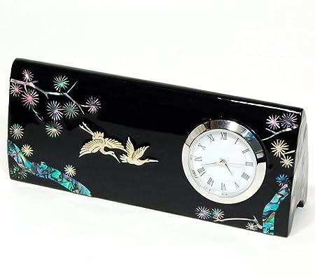 Reloj de mesa de madera con tarjetero para tarjetas de crédito ...