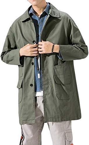 ジャケット メンズ ロングジャケット 長袖 ブルゾン ロングコート 上質 ウインドブレーカー カジュアル 防風 春 秋 冬 アウター コットン 大きいサイズ トレンチコート
