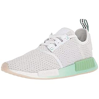 adidas Originals mens Nmd_r1 Sneaker, White/White/Blush Green, 6 US