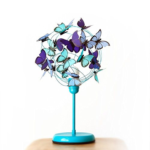 Turquoise bedside lamp with butterflies-sea colors sea decor blue gift butterfly lover bedroom decor sea decor baby gift baby room nursery