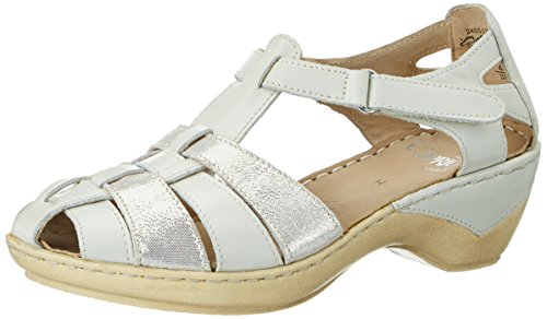 Blanc co 24551 Femme Ouvert Caprice Offwhite Bout Na Sandales gwvdqX