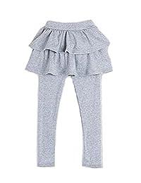 3-11Y Cute Kid Girl Ruffle Tutu Skirt Cake Elastic Culottes Leggings Tight Pants