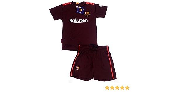 Barcelona R/éplica Oficial Junior Tercera Equipaci/ón Uniforme F.C