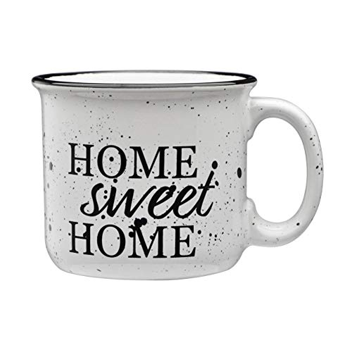 Culver Home Sweet Home 14-Ounce Campfire Decorated White Ceramic Mug (Single)