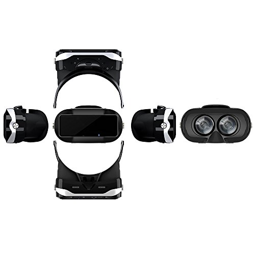 Docooler Virtual Reality Glasses VR All-in-one Machine 3D VR Headset 5.5Inch Touch Screen WiFi Bluetooth 4.0 w / Earphone Jack TF Card Slot US Plug by Docooler (Image #1)