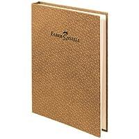 Faber-Castell 5075400750 Bambu Serisi A5 Gizli Spiralli Çizgili Not Defteri, Açık Kahve
