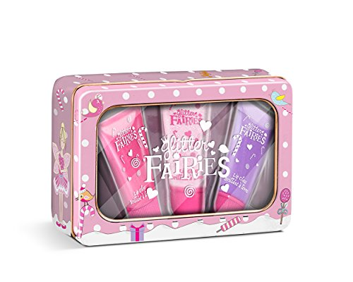 Grace Cole Glitter Fairies Perfect Pout Reusable Tin with Lip Gloss by Grace Cole
