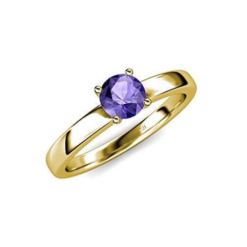 TriJewels Iolite Solitaire Ring 0.95 ct in 14K Yellow Gold.size 7 ()