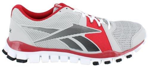 Reebok Men's Realflex Advance Cross-Training Shoe,Steel/Red/Black/White,13 M US