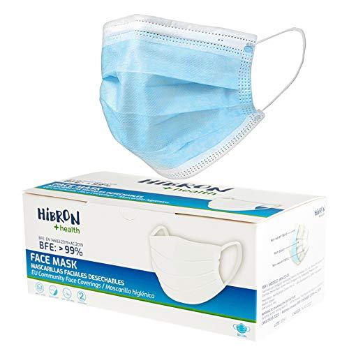 Hibron Mascarillas faciales Deshechable, pack con 50 unidades a buen precio