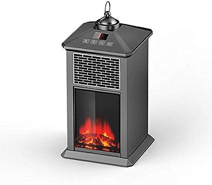 Heating Chimenea Eléctrica Móvil Tipo Estufa de Pie con Efecto de Leña Ardiendo Calefactor, Temporizador, Control Remoto con Temporizador, Control Remoto, Retro