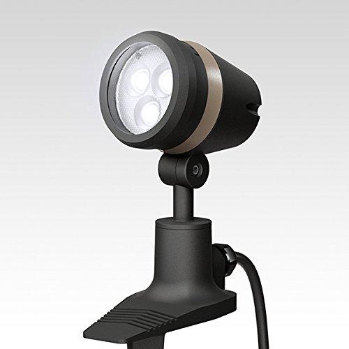 ガーデンライト 庭園灯 LED ガーデンアップライト De-SPOT 調光リング 100V 白 広角 10mプラグ無し (ブラック) スポットライト 照明 屋外 看板 B0765WP3GG  ブラック