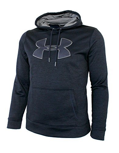 Under Armour Men's Storm Fleece Big Logo Hoodie Athletic Hooded Shirt Heather (M) by Under Armour