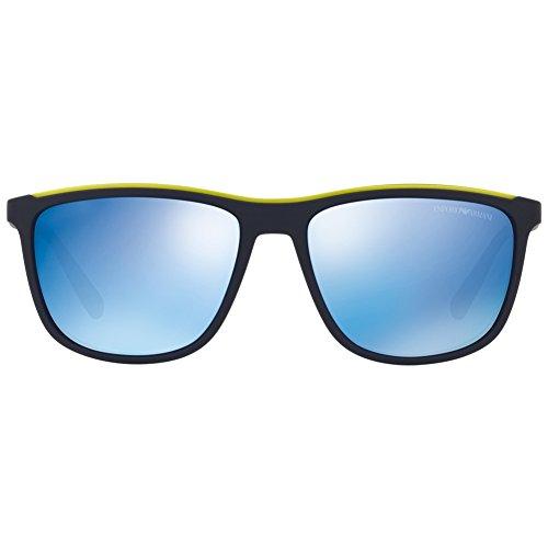 Blue para 0EA4109 de Armani 57 Azul Matte Sol Emporio Hombre Gafas 563855 YxYv7