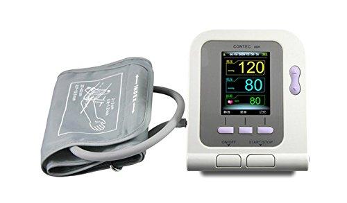 Contec08A Professional Digital Upper Arm Blood Pressure Monitor, Pulse Rate & SpO2 Meter