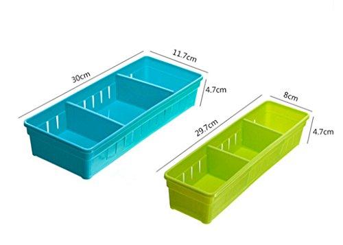 Focussexy Adjustable Plastic Drawer Organizer Flatware Organizer Photo #3