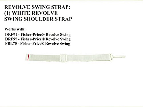Fisher Price Revolve Swing:Replacement White Shoulder Strap