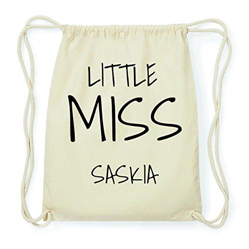 JOllify SASKIA Hipster Turnbeutel Tasche Rucksack aus Baumwolle - Farbe: natur Design: Little Miss 3Itljp8uO