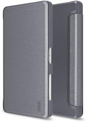Artwizz 9086-1675 Smartjacket Funda para Sony Xperia Z5 Compact, Carcasa Protectora en Aspecto de Metal con Tapa Frontal, Parte Trasera y Agarre Suave, diseñado en Berlín – Titanio