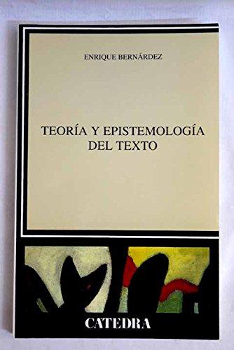 Download Teoria y epistemologia del texto/ Theory and epistemology of Text (Lingüística) (Spanish Edition) PDF