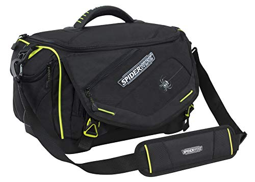 Spiderwire Wolf Tackle Bag, 27.6-Liter, Black