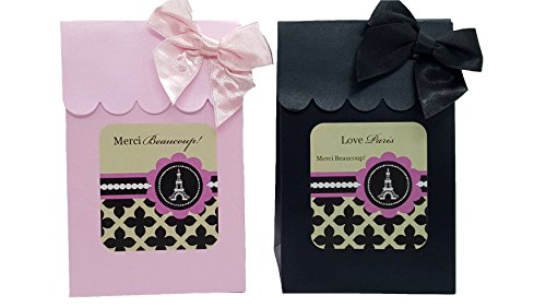 Paris Theme Party Supplies Eiffel Tower Theme Gift Box Favors for Birthday, Bridal Shower, Gender Reveal Ideas and Baby Shower 12 (Paris Birthday Party Ideas)