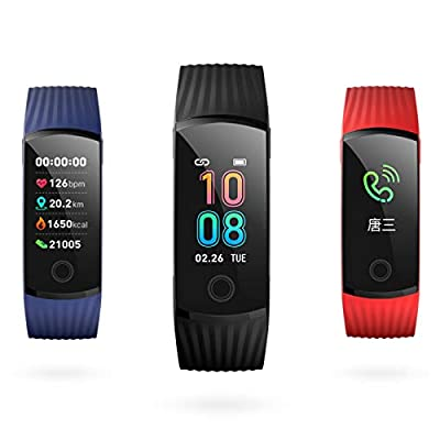 2019 New H6 Smart Wristband Smartwatch for Men&Women Color Screen Waterproof Sports Watch with All-day Heart Rate Blood Pressure Monitor Bluetooth Activity Tracker Compatible for Android & iphones