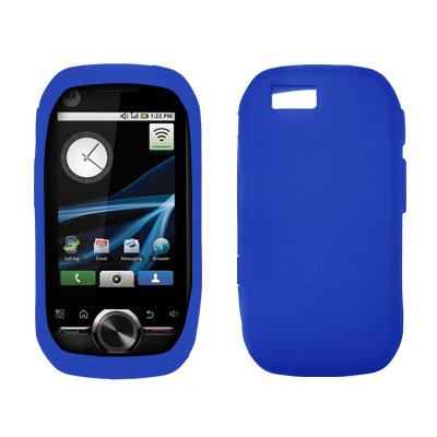 Premium Blue Silicone Gel Skin Cover Case for Motorola i1 [Accessory Export Brand ()