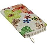 Women's Canvas Floral Print Wallet Clutch Purse Bag Card Holder