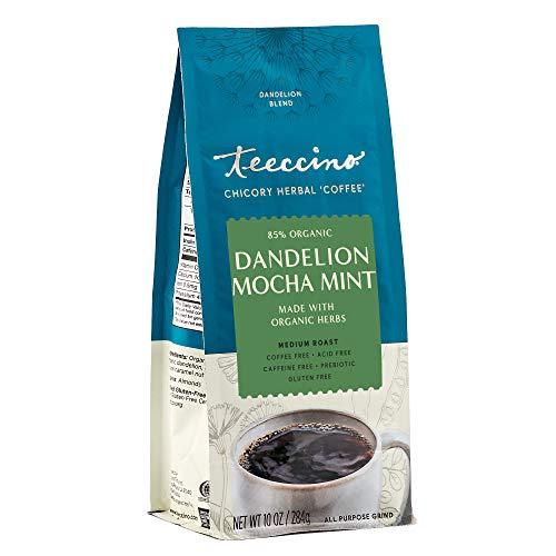 Teeccino Coffee Alternative – Dandelion Mocha Mint – Detox Deliciously with Dandelion Herbal Coffee That's Prebiotic…