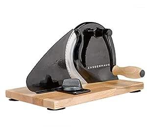 Zassenhaus - Cortador de pan clásico en negro, cortador universal ...