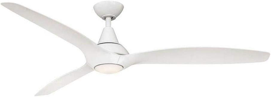 Tidal Breeze 60 in. LED Indoor White Ceiling Fan with Light Kit and Remote Control