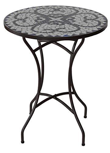 Cortesi Home CH-DT700206 CeCe Mosaic Round Indoor/Outdoor Bistro Table, 24
