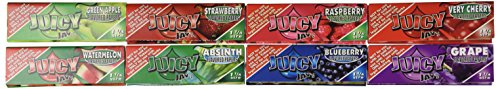 8 booklets x JUICY JAY'S MIXED 1 1/4 Flavoured Cigarette papers - Juicy Jays Papers