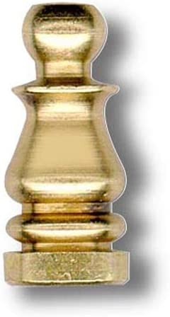 National Artcraft Solid Brass Finial for Lamp Shades 1 Inch Tall (Pkg/20)