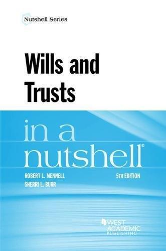 Wills and Trusts in a Nutshell (Nutshells)