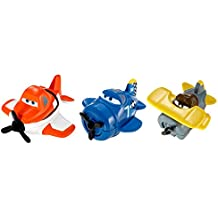 Disney Planes Micro Drifters Skipper, Leadbottom and Dusty Vehicle 3-Pack