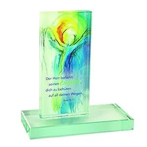 Cristal Figurita tu Ángel tamaño: 14x 13x 6cm