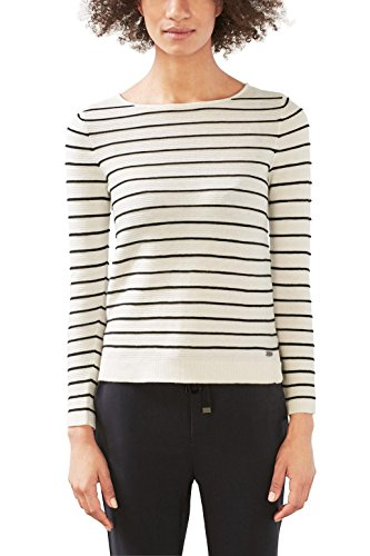 edc by ESPRIT Damen Pullover Weiß Off White 110 0pibK8Hg8R ... d413dad3ec
