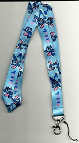 Amazoncom Lilo And Stitch Stitch Pink And Blue Lanyard Office