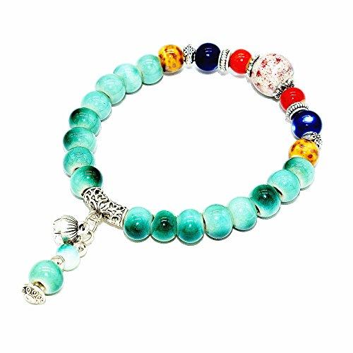 Handmade Bohemia Ceramic Beads Bracelets Bangles for Gift (Rope Shamballa)