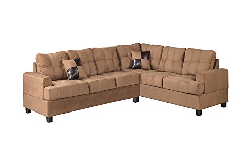 Poundex Bobkona Microfabric Reversible Sectional Benefits