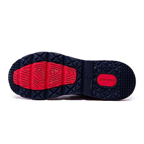 De Mi Course Baskets Tricot À De Fitness Hommes Montantes Sport Bleu Chaussures Coussin Onemix De Rouge D'air Pied Foncé x6wfxqZdr